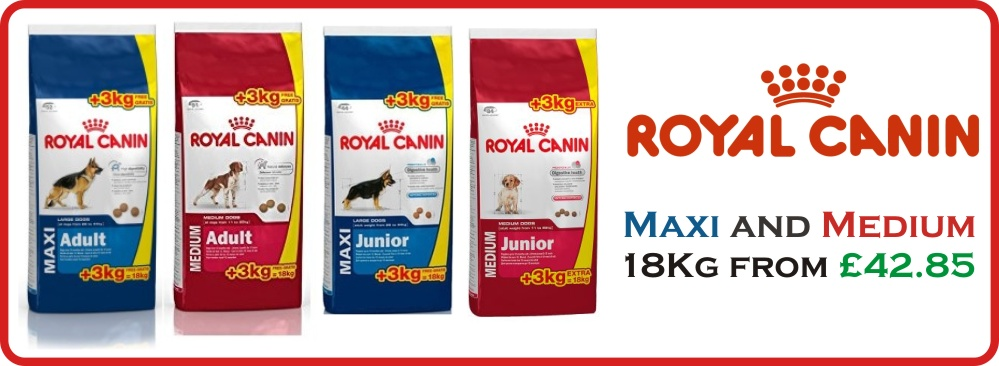 Royal Canin 15Kg + 3Kg Free - Maxi and Medium