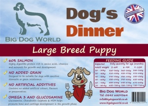 Dogs Dinner - Large Breed Puppy 12Kg