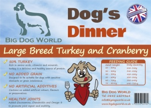 Dogs Dinner - Large Breed Turkey and Cranberry 12Kg