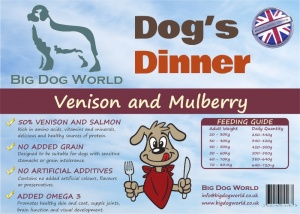 Dogs Dinner - Venison, Sweet Potato and Mulberry 12Kg