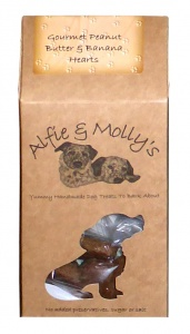 Alfie and Mollys Gourmet Peanut Butter and Banana Hearts