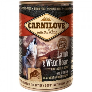 Carnilove Lamb and Wild Boar Wet Dog Food