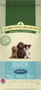James Wellbeloved Puppy Duck and Rice 7.5 kg