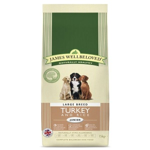 James Wellbeloved Large Breed junior turkey and rice 15Kg