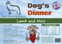 Dogs Dinner - Lamb, Sweet Potato and Mint 12Kg