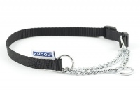 Ancol Heritage nylon and chain check collar
