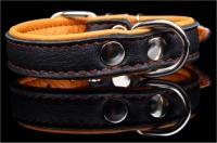 Big Dog World Elk Leather Collar