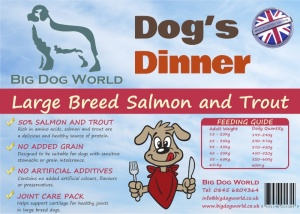 Dogs Dinner - Large Breed Salmon and Trout 12Kg