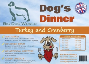 Dogs Dinner - Turkey, Sweet Potato and Cranberry 12Kg