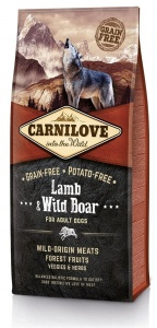 Carnilove Adult Lamb and Wild Boar 12Kg