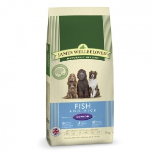 James Wellbeloved Senior Fish and Rice 15Kg