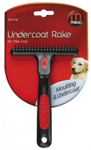 Mikki Anti Tangle Undercoat Rake for Thick Coats