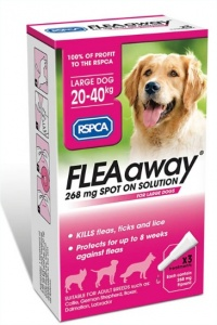 RSPCA FleaAway Spot-On for Large Dogs