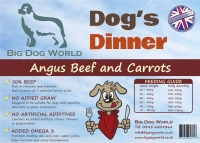 Dogs Dinner - Angus Beef and Carrots 12Kg