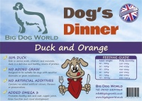 Dogs Dinner - Duck, Sweet Potato and Orange 12Kg