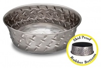 Diamond Plate XL Dog Bowl