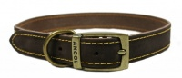 Ancol Timberwolf Leather Collar