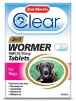 Bob Martin Clear Worming Tablets