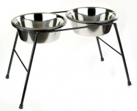 Classic Twin High Bowl Stand - Large