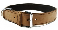 Outhwaites Natural Padded Leather Collar